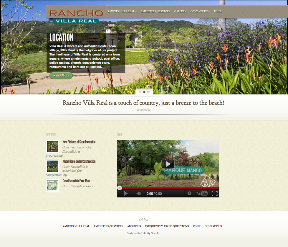 Rancho Villa Real Web Page